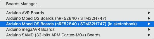 Custom core in board selector